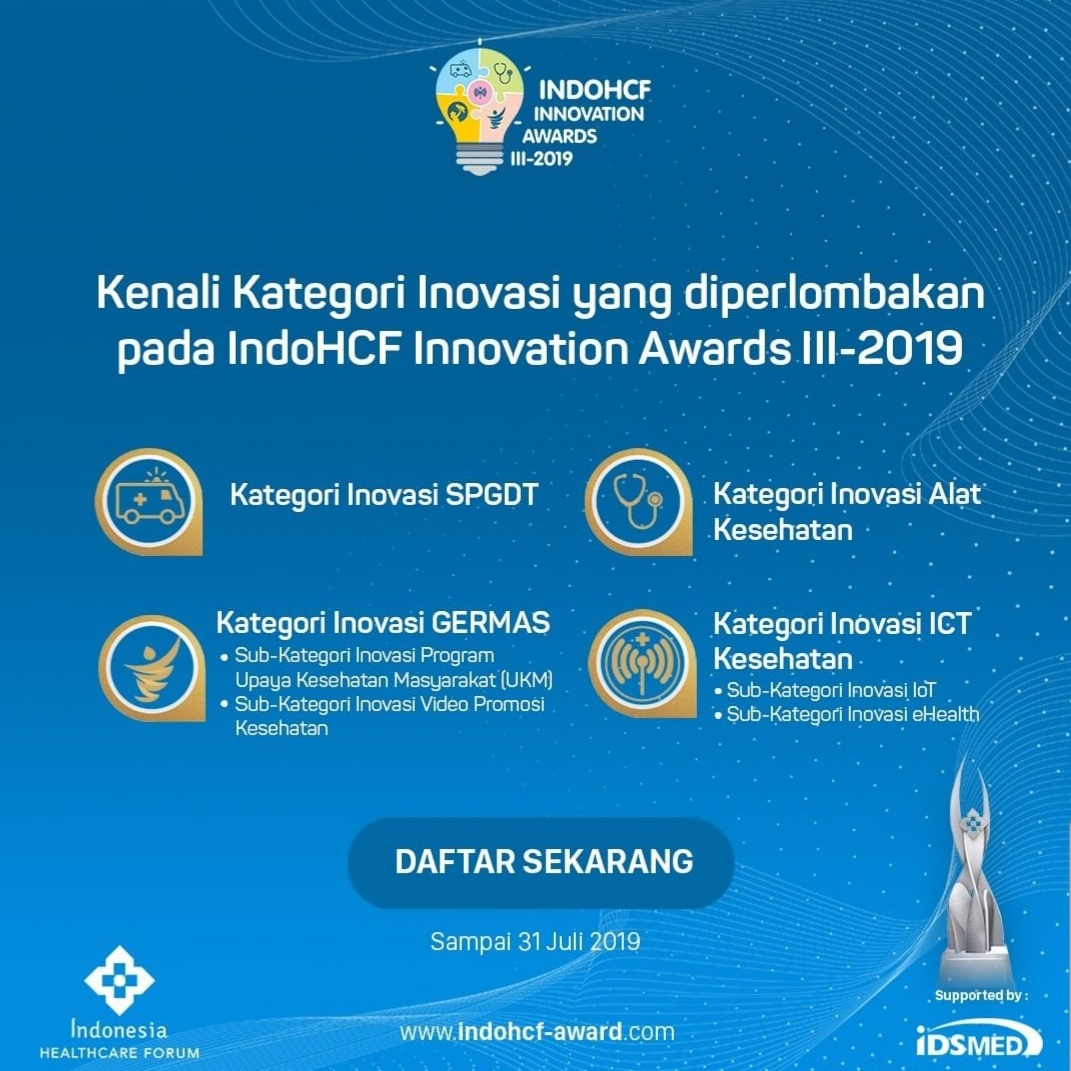 Kategori Inovasi IndoHCF Innovation Awards III-2019